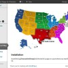 WordPress Interactive Map of the US Regions