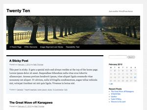 Twenty Ten New Default WordPress 3 Theme