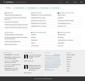 Accumulo Aggregator WordPress Theme