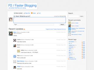 WordPress Twitter Style Group Blog Using P2 Theme