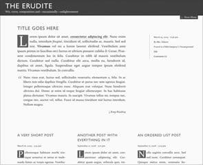 The Erudite WordPress Theme Updated