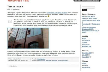 Journalist 1.9 WordPress Theme