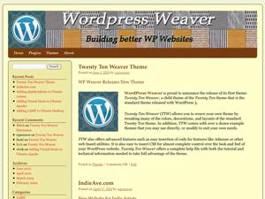 2010 Weaver WordPress Twenty Ten Child Theme