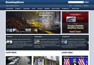 BreakingNewz News Magazine WordPress Theme