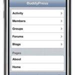BuddyPress Mobile Theme