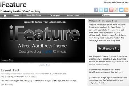 iFeature Theme for WordPress