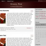 GlossyRed Theme for WordPress