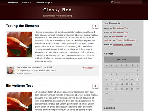 GlossyRed Theme for WordPress