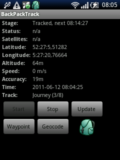 BackPackTrack for Android