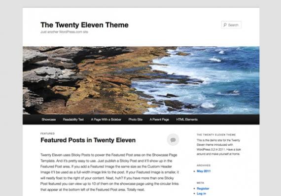 Twenty Eleven Theme