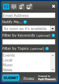 WordPress Push Channels