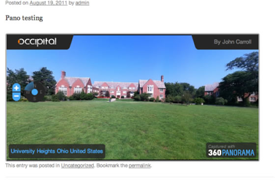 360 Panorama Embed
