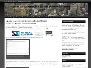 Black skyline Theme for WordPress