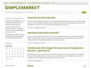 SimpleMarket Theme for WordPress