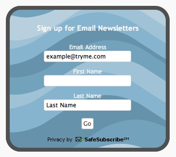 Constant Contact form example