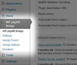 WP phpBB Bridge