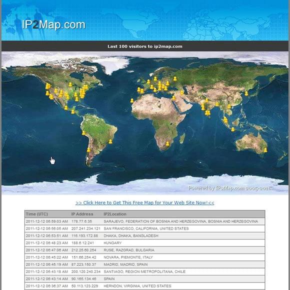 IP2Map Widget