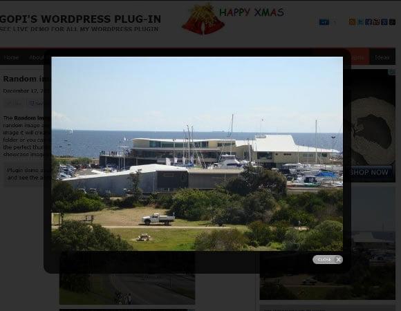 WordPress Random image gallery with pretty photo zoom