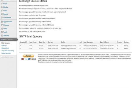 Mail Queues by PBCI for WordPress