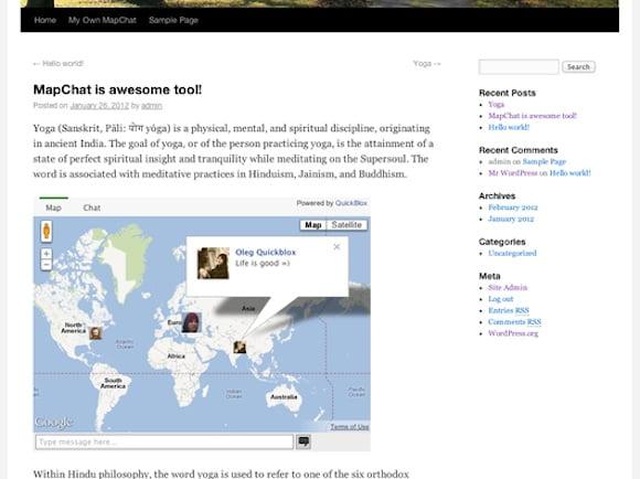 MapChat Widget