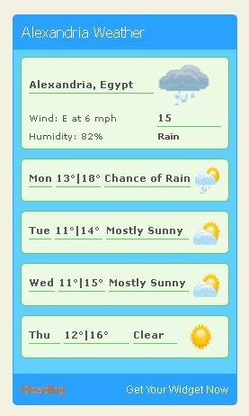 Weather sidebar widget