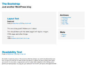 The Bootstrap Theme for WordPress