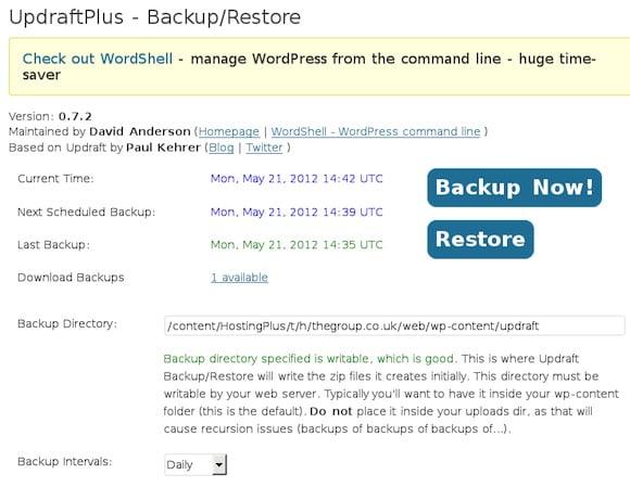 UpdraftPlus Amazon S3 Backup for WordPress