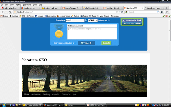 WordPress nomination and voting plugin