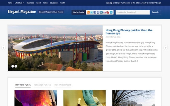Elemag Magazine Style WordPress Theme