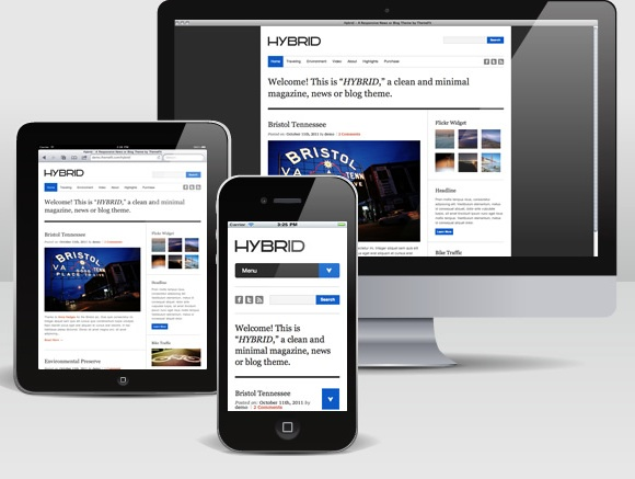 Hybrid Responsive Magazine Theme