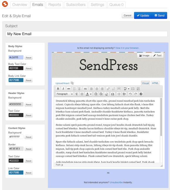 SendPress for WordPress