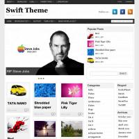 Swift magazine layout with three columns