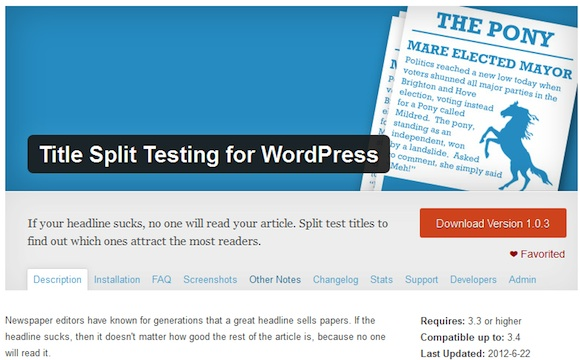 Title Split Testing for WordPress