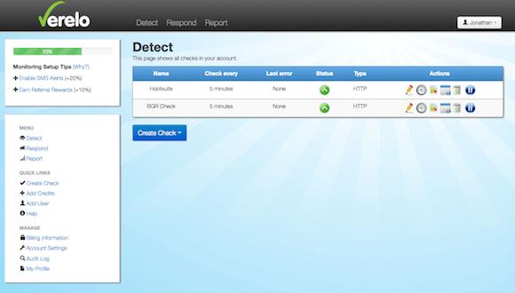 Verelo Blog Monitoring Plugin