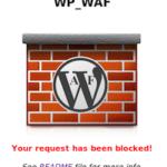 WP WAF WordPress Application Firewall