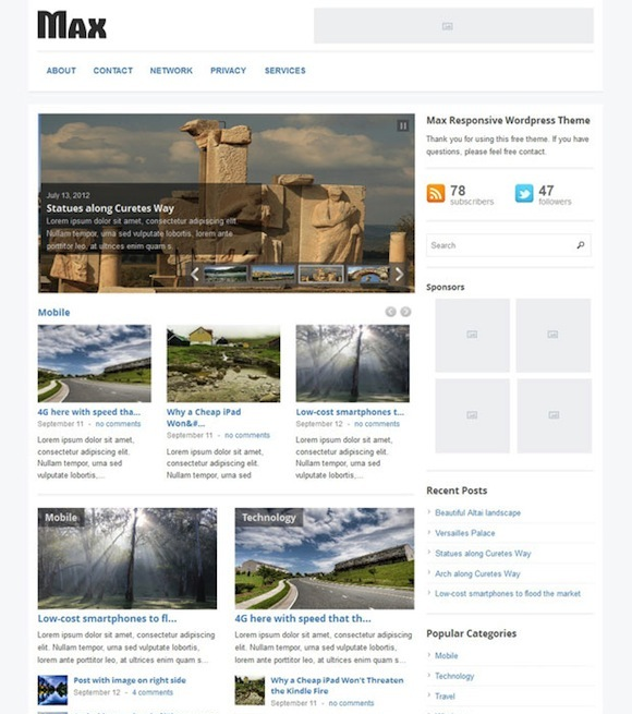Max Responsive WordPress Magazine Theme