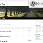 bbPress (Twenty Ten) Theme for WordPress