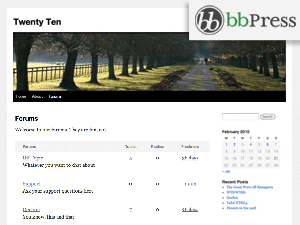 bbPress (Twenty Ten) Theme