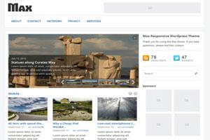 Max Magazine theme for WordPress