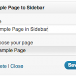 Simple Page to Sidebar plugin for WordPress