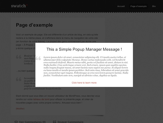 Simple Popup Manager