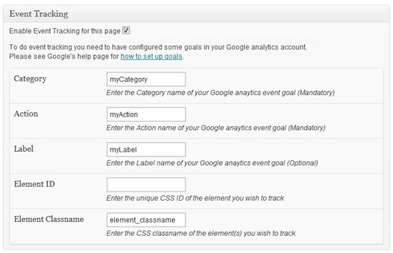 WP Content Experiments & Event Tracking