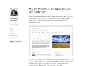 Publish Theme for WordPress