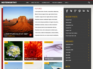 Noteworthy magazine Theme for WordPress