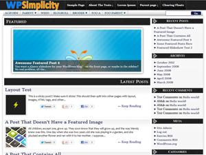 WPSimplicity Theme for WordPress