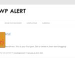 WordPress WP Alert Plugin
