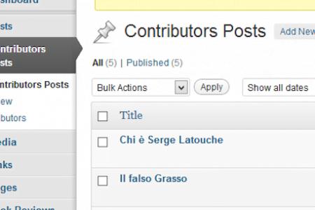 Contributors Posts for WordPress