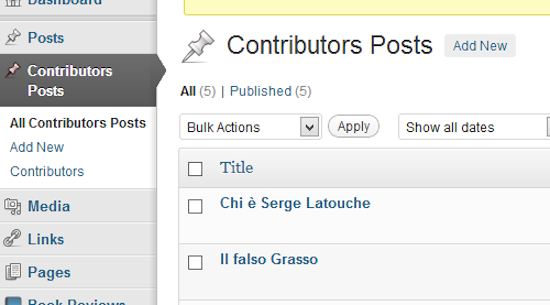 Contributors Posts for WordPress