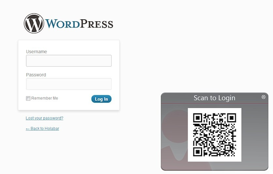 Scan2Login for WordPress