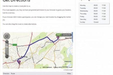 Get Directions responsive map plugin for WordPress